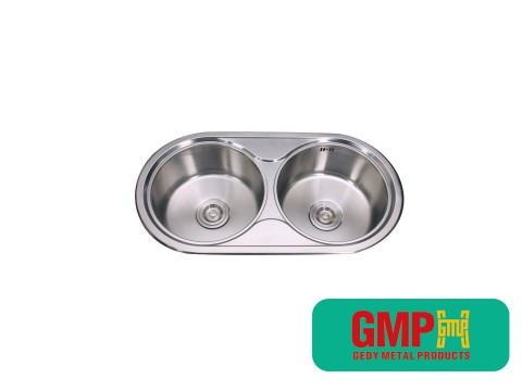 Steel stainless sink disapu resik lumahing